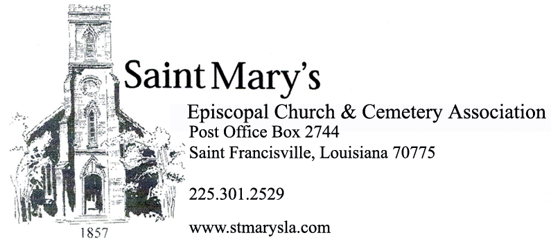 Welcome To St Mary S Episcopal Church Amp Cemetery Association